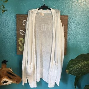 White SO Cardigan Sweater